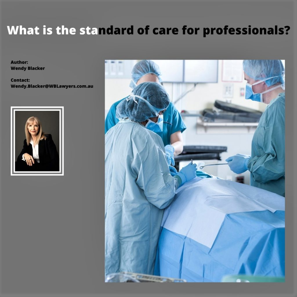 What Is The Standard Of Care For A Professional Service Provider